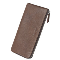 QIALINO New Premium Real Leather Wallet Case For iPhone 6 men's genuine leather wallet with card holder for iphone 7 phone