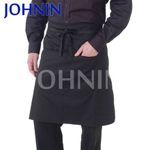 High Quality 100% Cotton And Polyester Kitchen Waist Apron With Pocket