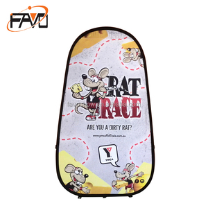 Promotion Portable Spring Up Multi Function Triangle Folding Pop Up Banner