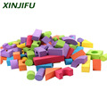 52pcs educational EVA foam building blocks colorful geometry blocks children intellective toys