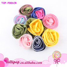 Satin flower for hair high quality decorative flower for clothing wedding rose flower