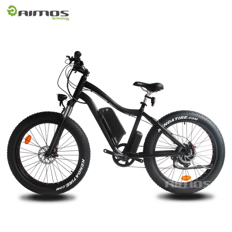 26*4.0 inch 48V500W/750W motor beach cruiser mid drive electric fat bike electric snow electric fat e mountain bike