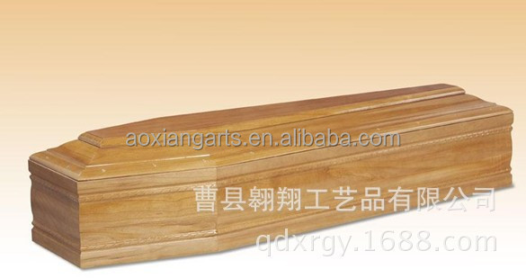 solid wood Europe style coffin