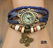 Cheapest price Leather Retro Wrap Bracelets Watch Vintage Style Wave Wrap Leather Bracelets Watch For Women