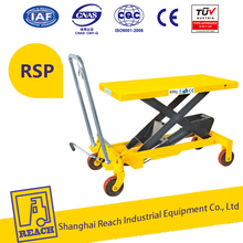 hydraulic manual mini scissors lift table for materials handling for sale