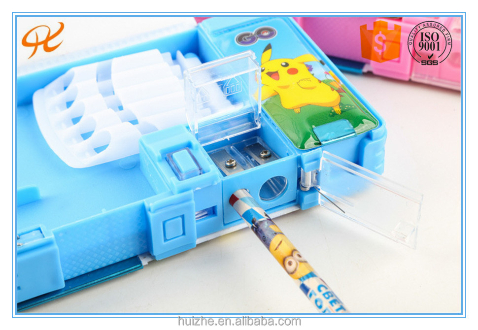 2016 pokemon pencil case stationery set / tin pencil case for children and kids