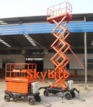 automatic electric hydraulic scissor lift table/towable lift height scissor lift/ mid rise hydraulic scissor lift