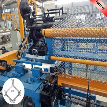 Easy operating 380V fully-automatic chain link fence machine for market