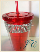 promotional cup,promotion cup,reusable plastic straw cup for kids