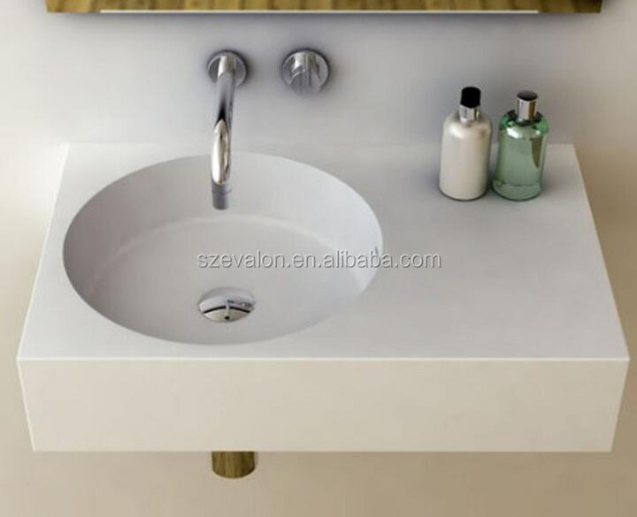 modern italian style bathroom vanities and basins,solid surface wall hung wash basins