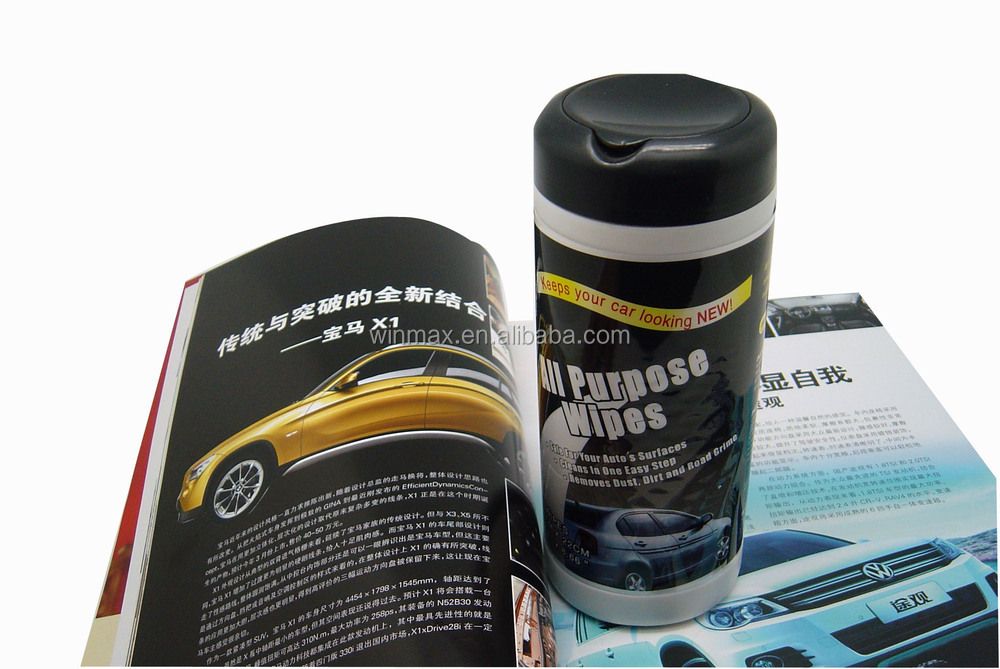 Hot selling cheap car wipes in mini canister nonwoven fabric