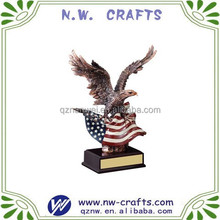 Resin Eagle Statues Sculptures with Free Engraving