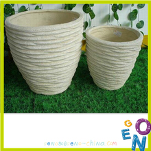Not coated elegant senior fiberglass flower pot
