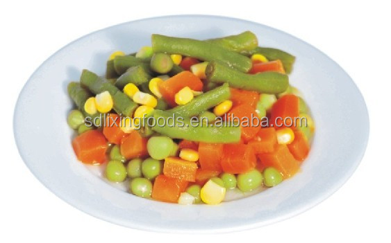 Canned vegetables along with a variety of mixed brine