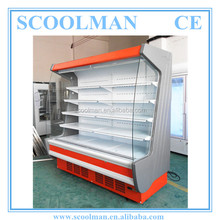 Air Curtain Open Front Multi-deck Chiller for Milk