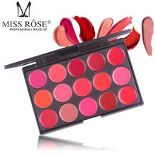Chinese <strong>Cosmetics</strong> Miss Rose 15-color Matte lipstick lasting lip palette