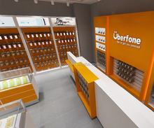 Telecommunication Service Mobile Phone Retail Shop Interior Design for <strong>hot</strong> sale