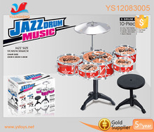 Musical Instrument Plastic Toys Drum Factory Best Jazz Drum Toys Wholesale Drum Kit