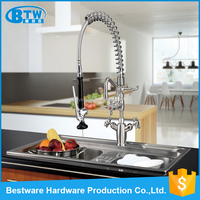 European style brushed treatment satin finish natural color faucet mixer kitchen sink faucet