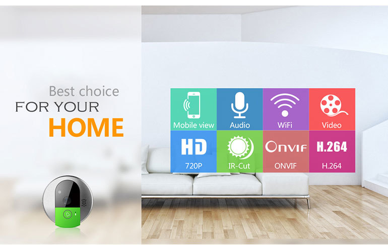 VStarcam Smart Home Plug And Play 720p Android IPhone Support Wifi Wireless Door Camera