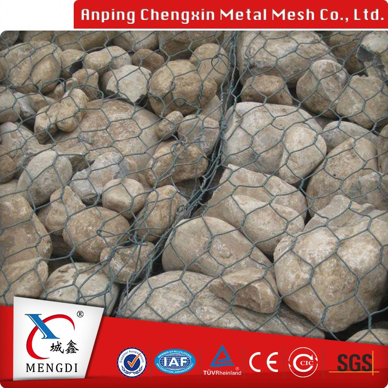 cheap anping galvanized chicken hexagonal gabion box metal fire pit mesh