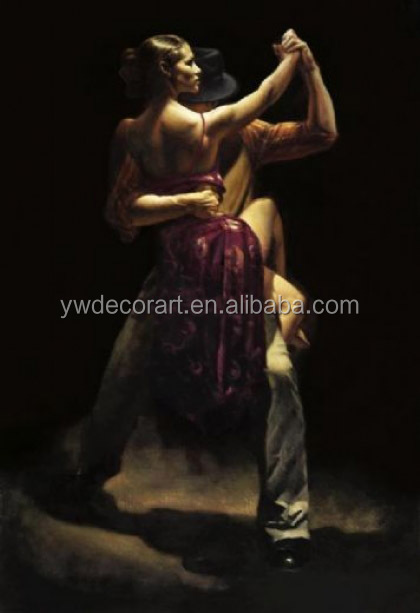 nude women dancing oil painting