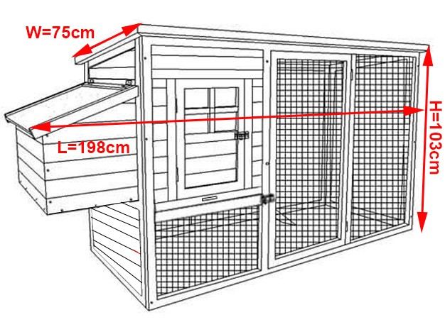 Factory supplied Wholesale Wooden chicken coop