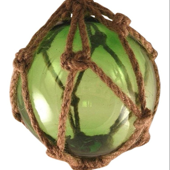 Green Glass Fishing Float Hand Blown Glass