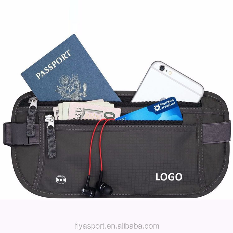 2018 new design best selling RFID blocking money belt for travel,daily walking