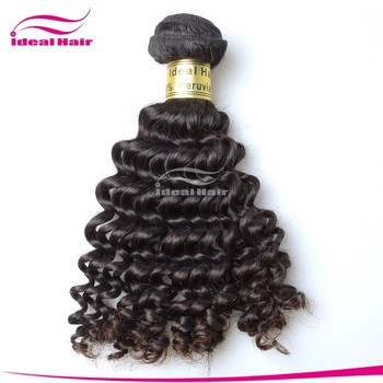 virgin peruvian human hair tiny curly deep curl on sale