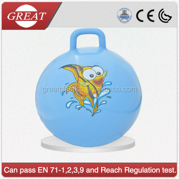 bounce hopper pvc inflatable toys ball for kids with logo printed