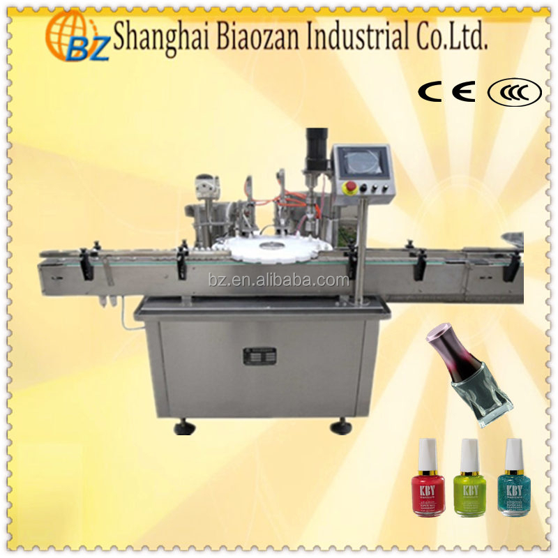 Shanghai manufacturer automatic perfume and nail polish bottle filling capping machine