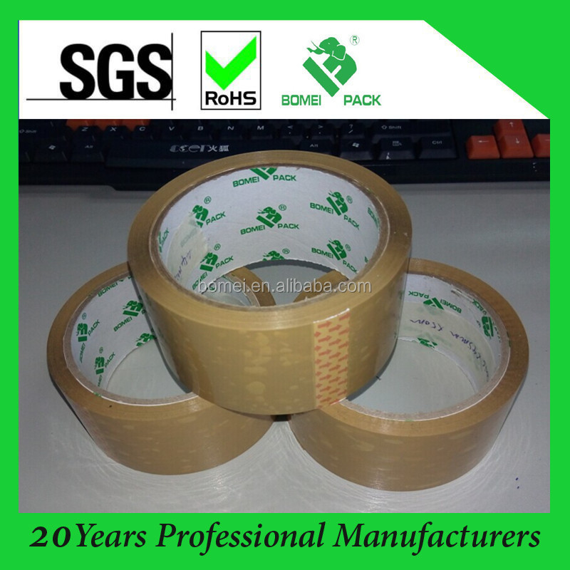High Quality Custom Brown BOPP Packing Bag Sealing adhesive tape(ISO/SGS Approved)