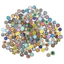 Tiles Glass Mosaic 12mm Mixed Round for Crafts Glass Mosaic Supplies 200pcs