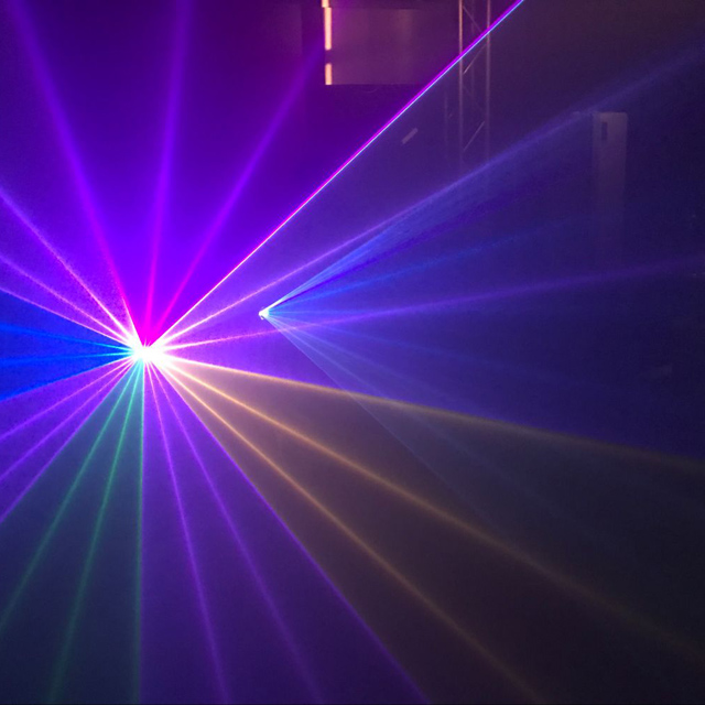 EXW Night club DJ 1W RGB multi-colors animation laser light projector show