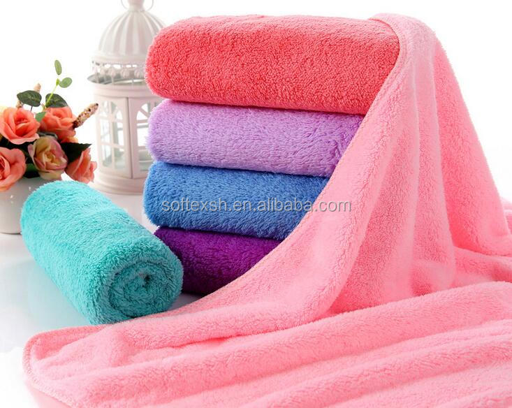 China magic microfiber quick-dry towel solid color super absorbent car washing printed cleaning towel microfiber bath towel