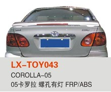vehicle parts car rear spoiler High quality hot sale car plastic rear spoilers 2005 corolla