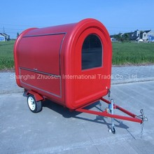Flower Mobile Street Takoyaki Okonomiyaki Fiberglass Round Snack Food Cart Trailers ZS-FT250 B