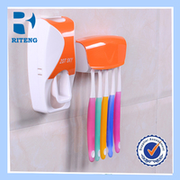 colors automatic toothpaste dispenser squeezer toothpaste squeezing device with wall mount toothbrush holder