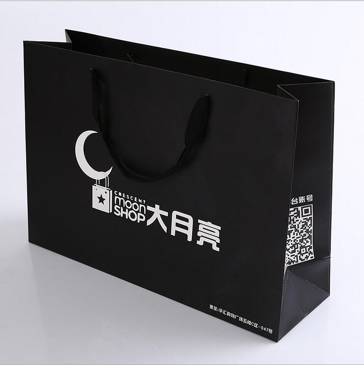Custom made full color laminated shopping high quality cheap custom kraft paper bag