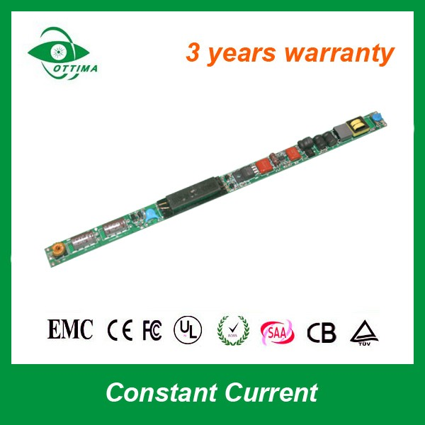 ultra thin 28w 45v 600ma Internal driver UL Certified t5 t8 tube led driver