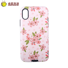 New 2017 hot cell phone cases for iphone x elegant korean,for iphone x case pc soft tpu print plastic shockproof