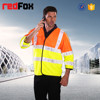 2/3 length sleeve safety fluorescent fabric for reflective vest