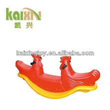 2015 Plastic Double Riding Horse Seesaw Toy For Kids