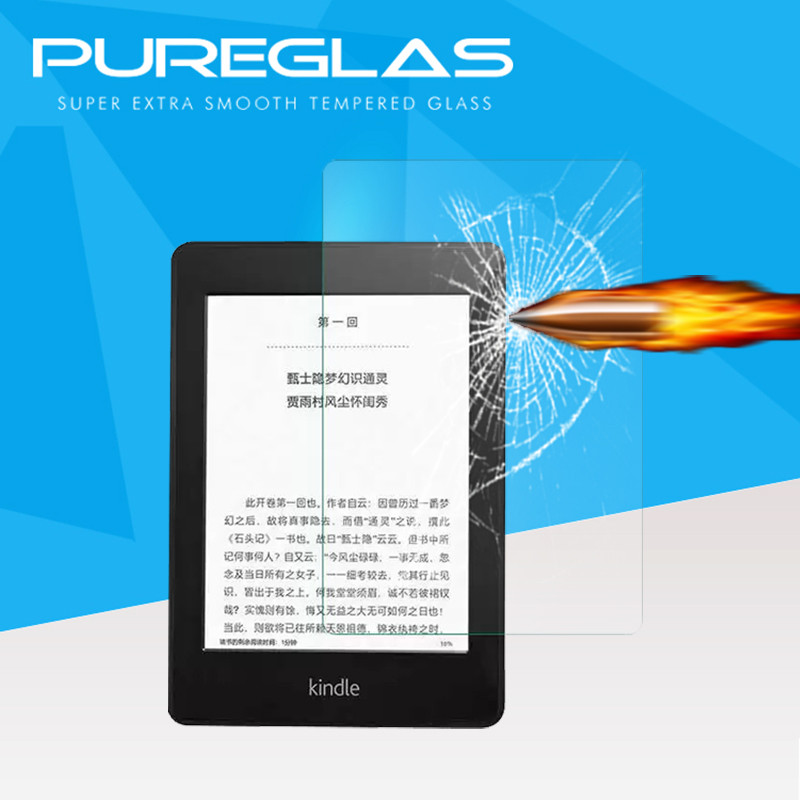 Pureglas Supply 2016 New Explosion-proof Tempered Glass Touch Screen Protective Fillm Protector for Kindle 8th Tablet