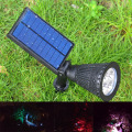 RGB New solar led outdoor landscaping lights , outdoor spot garden light with RGB Color for decor,christmas holiday lighting