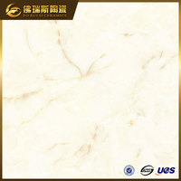 Item:FSQP28104 Super White Nano Polished Porcelain Tiles Made Jamaican Stone
