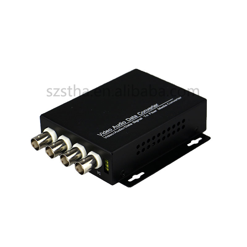 4-channel Digital Video Optical Transceiver 1-4 channel video comes with 1-channel reverse RS485 data fiber converter FC 20KM