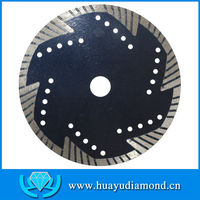 "Factory Direct: 7"" 180mm Protection teeth turbo diamond saw blade, supply for cutting granite, marble, limestone, concrete"