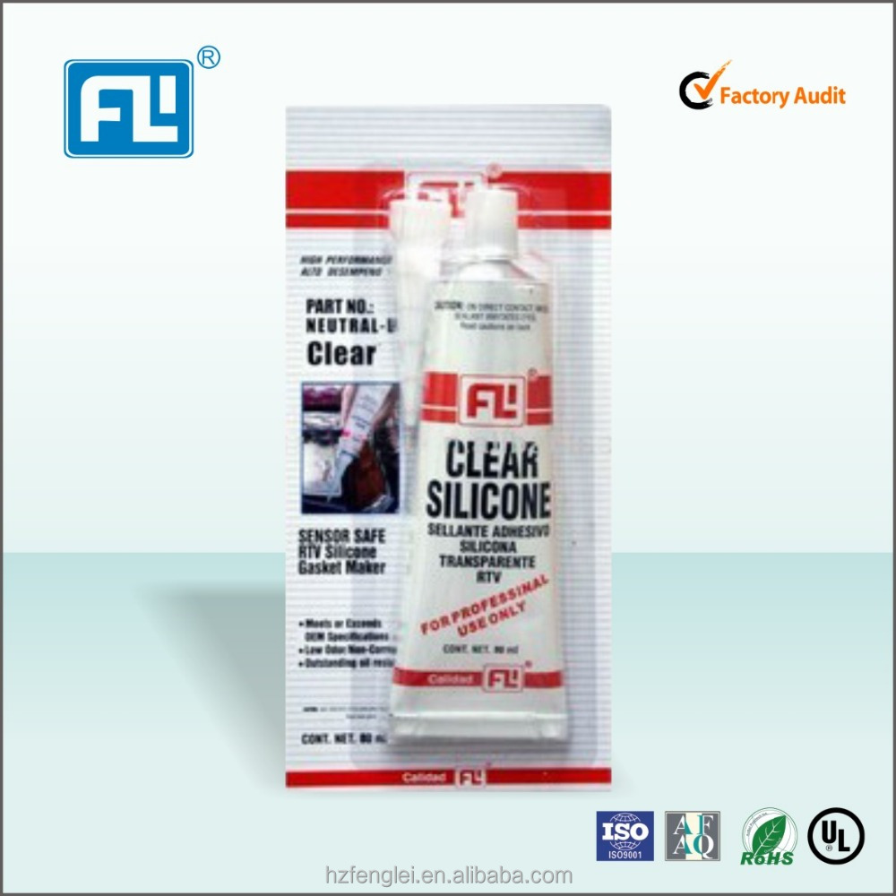 FL for OEM sealant silicone Black/Red/Grey/Clear/biue Rtv Silicone Gasket Maker